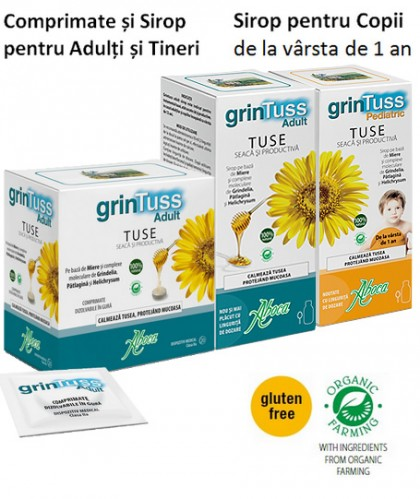 Grintuss - Remediul pentru tusea seacă și cea tusea productivă într-un singur produs