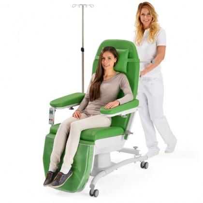 Fotoliile medicale multifunctionale - confort maxim, flexibilitate, mobilitate in tratamente oncologice, dializa, dermatologie estetica.