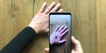 Frica de păianjeni, diminuată cu ajutorul realității augmentate
