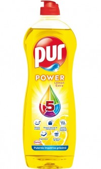 PUR Power 5 Lemon, detergent de vase - 750 ml