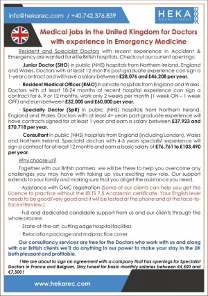 Specialty Doctors in Emergency Medicine wanted for British leading teaching hospital