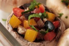 Ciuperci umplute gratinate