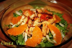 Salată de fenicul cu pui si portocală