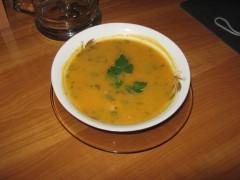 Supă-cremă de ficat de pui
