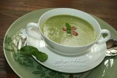 Supă cremă de dovlecei cu somon afumat