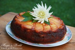 Prăjitură cu mere caramelizate