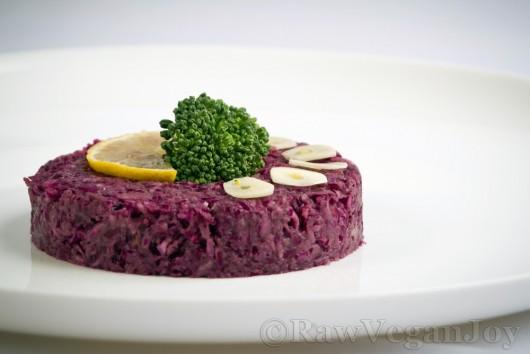 Rețetă Salată de varză roșie cu avocado