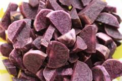 Supă cremă cu cartofi violeți și mix de legume