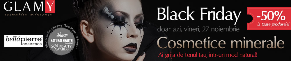 Black Friday Cosmetice minerale 50% reducere